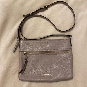 Kate Spade New York Pale Pink Pebbled Leather Crossbody Purse